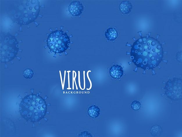 Moderne virus geïnfecteerde blauwe achtergrond