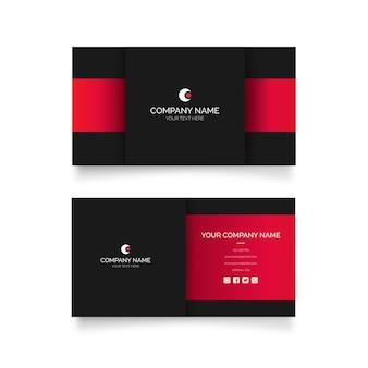 Moderne visitekaartje met rode vormen