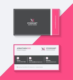 Moderne visitekaartje ontwerpsjabloon