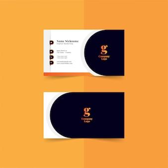 Moderne visitekaartjes sjabloon premium
