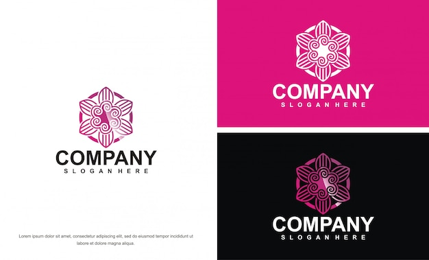 Moderne vlinder logo sjabloon