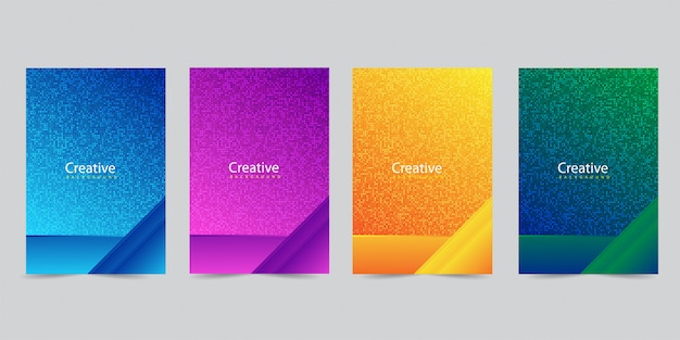 Moderne voorbladsjabloon ingesteld met abstract