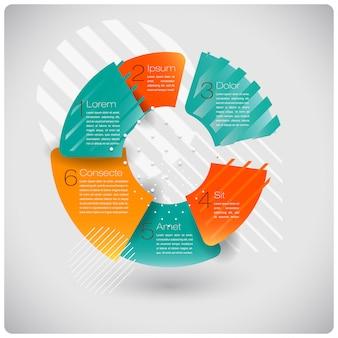 Moderne vormen abstracte infographics