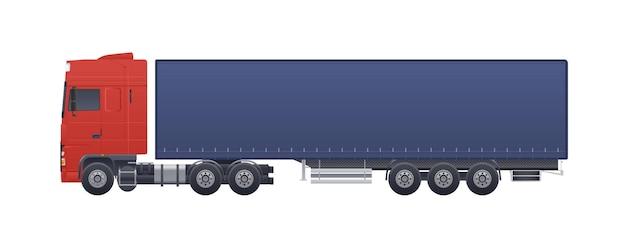 Moderne vrachtwagen of vrachtwagen geïsoleerd op wit