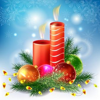 Moderne vrolijke kerstdecoratie