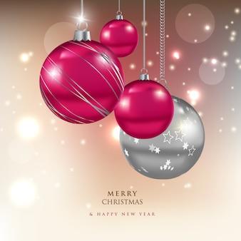 Moderne vrolijke kerstmis achtergrond