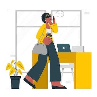 Moderne vrouw concept illustratie