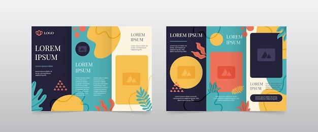 Moderne vrouwelijke driebladige brochurelay-out
