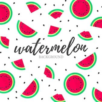 Moderne watermeloen achtergrond