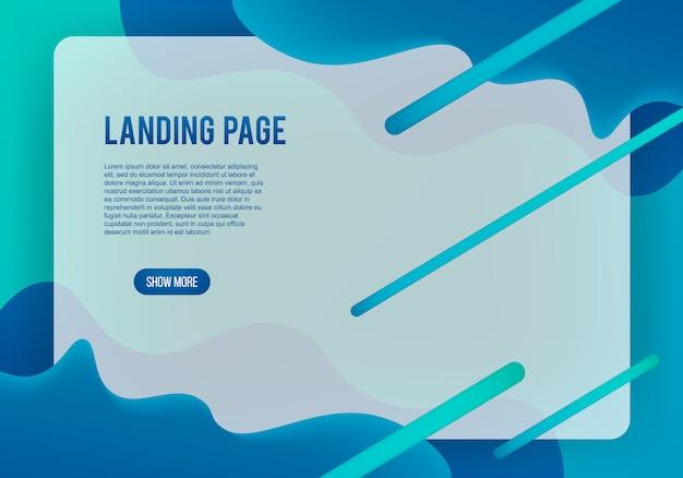 Moderne webpagina landing pagina achtergrond