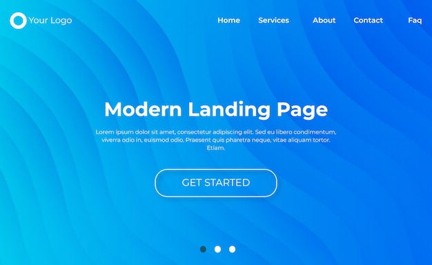 Moderne website bestemmingspagina sjabloon