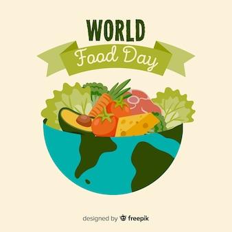 Moderne wereld eten dag achtergrond