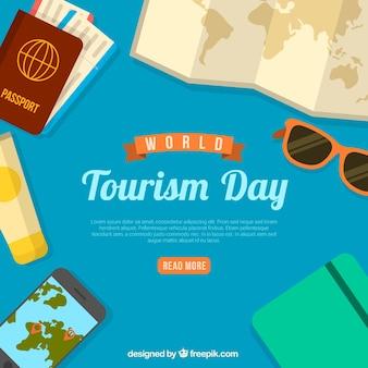 Moderne wereld toeristische dag samenstelling