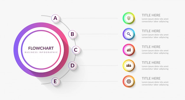 Moderne werkstroom infographic sjabloon