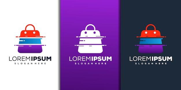 Moderne winkel met technisch logo-ontwerp
