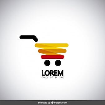 Moderne winkelwagen logo