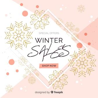 Moderne winter verkoop samenstelling