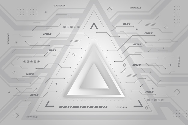Moderne witte driehoek technologie achtergrond