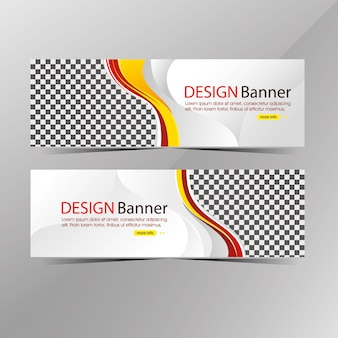Moderne witte en rode websjabloon banner, promotie verkoop korting