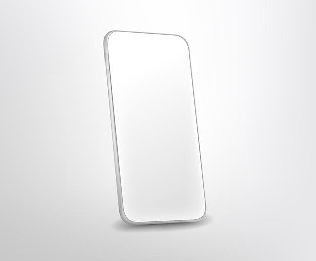 Moderne witte premium smartphone. gelaagd