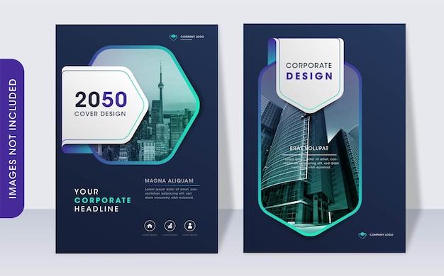 Moderne zakelijke boekomslag ontwerpsjabloon