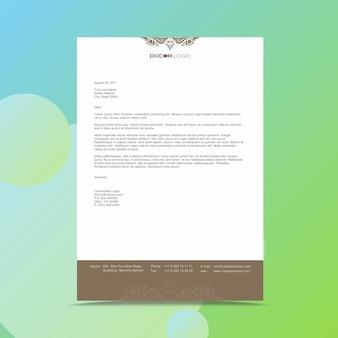 Moderne zakelijke briefhoofd ontwerpsjabloon