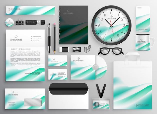 Moderne zakelijke briefpapier instellen voor uw merkidentiteit
