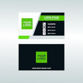 Moderne zakelijke bussines kaartsjabloon premium