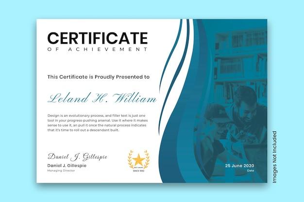 Moderne zakelijke certificaatsjabloon vector premium vector