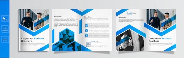 Moderne zakelijke gevouwen brochure sjabloon