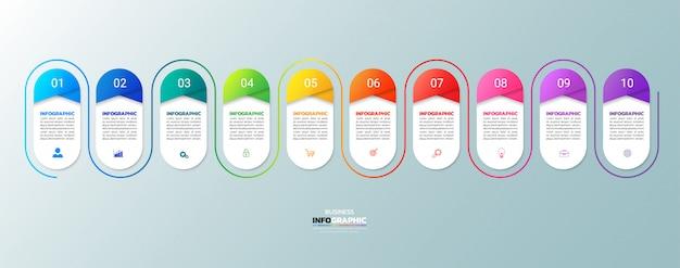 Moderne zakelijke infographic 10 stappen