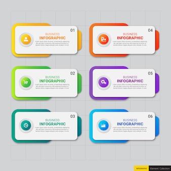 Moderne zakelijke infographic 6 opties