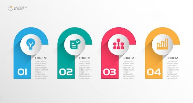 Moderne zakelijke infographic