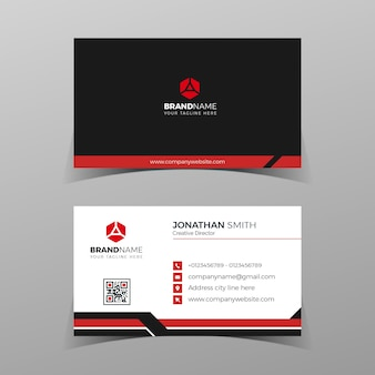 Moderne zakelijke kaartsjabloon elegant element samenstelling ontwerp met schoon concept