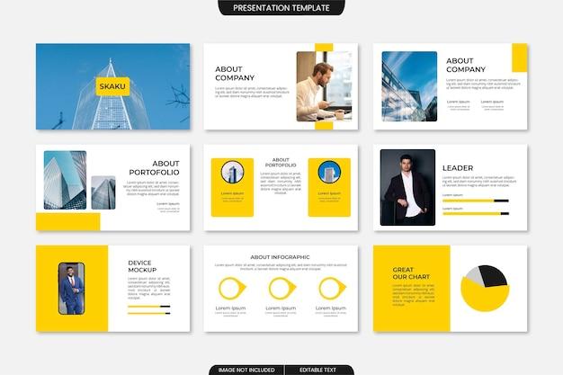 Moderne zakelijke presentatiesjabloon powerpoint