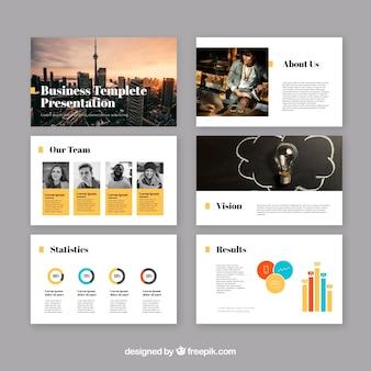Moderne zakelijke presentatiesjabloon