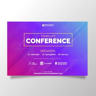 Moderne zakelijke sjabloonconferentie