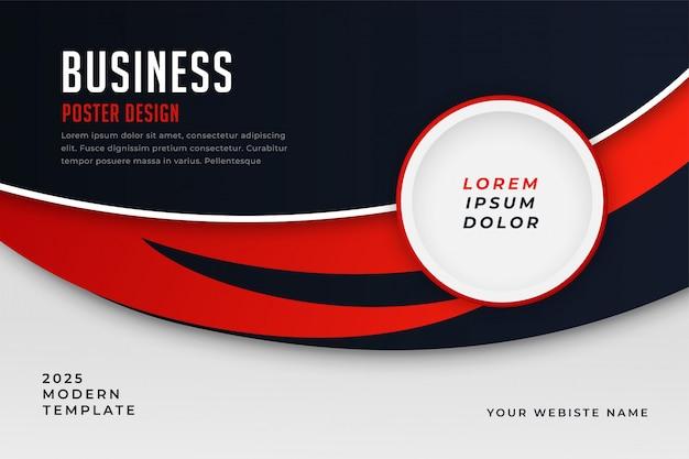 Moderne zakelijke stijl rode thema presentatiesjabloon