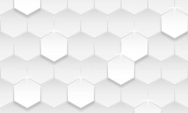 Moderne zeshoek achtergrond, abstracte geometrische achtergrond