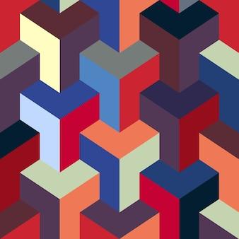 Moderne zeshoekige stoffen patroon kleurstijl.