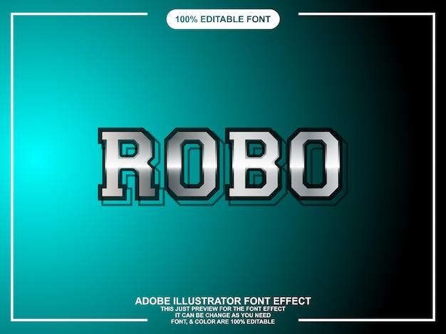 Moderne zilveren bewerkbare teksteffect grafische stijl