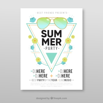 Moderne zomerfeestbrochure