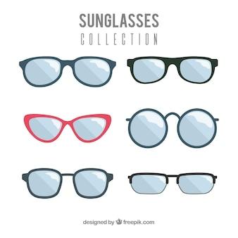 Moderne zonnebrilcollectie in vlakke stijl