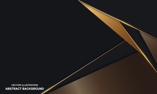 Moderne zwarte achtergrond met gouden luxe