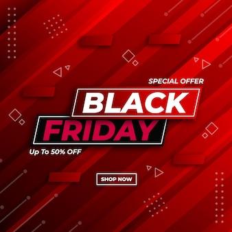 Moderne zwarte vrijdag conceptontwerpsjabloon voor sociale media post banner