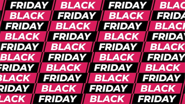 Moderne zwarte vrijdag-patroonbanner