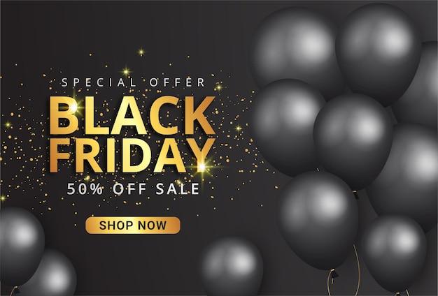 Moderne zwarte vrijdag super sale banner
