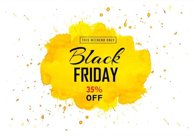 Moderne zwarte vrijdag voor gele plonskaart