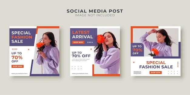 Modeverkoop social media postsjabloon