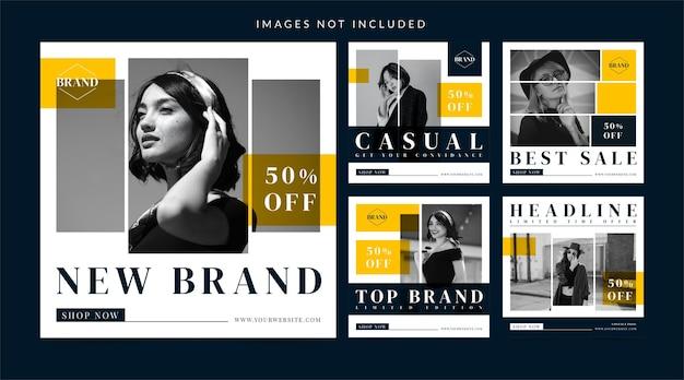 Modeverkoop voor banner op sociale media of instagram-bericht